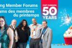 Forum des membres du printemps : prochainement dans une ville près de chez vous!
