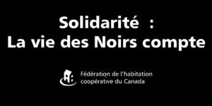 Solidarité: les vies Noires comptent