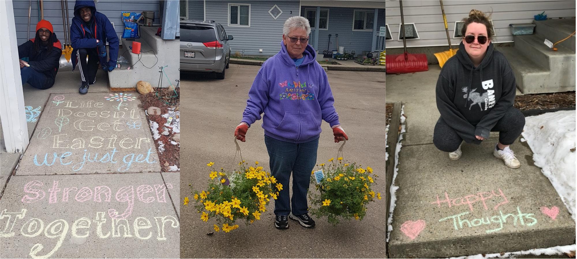 #HumainsHabitationCoopérative: Des fleurs et d'autres initiatives attentionnées à la Brittany Lane Co-op