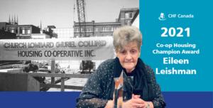 Eileen Leishman, la Championne de l'habitation coopérative2021, est «une rêveuse, une motivatrice et une femme d'action»